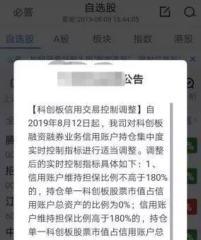 开市仅三周 华南某券商上调科创板两融业务门槛