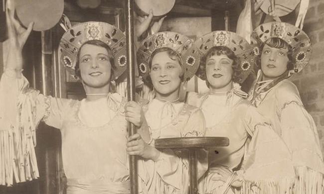 二十世纪初的美国文艺团体,女演员个个是女神