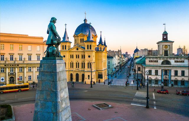 实拍波兰,俯瞰饱经沧桑的古城罗兹