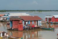 柬埔寨的水上人家