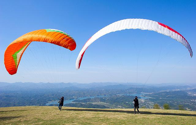 绝美景观,江浙沪海拔最高的滑翔伞基地