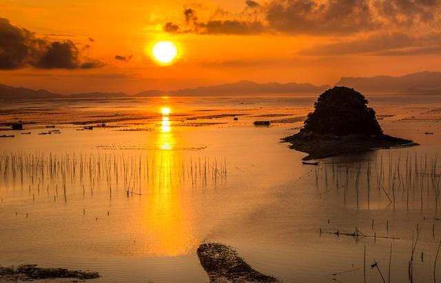 中国最美滩涂,双台风来临之前的福建霞浦