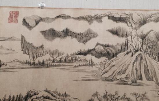 台北故宫博物院版《烟江叠嶂图》局部