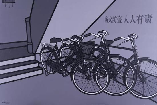 李邦耀 《走道》 200cm×300cm 布面丙烯 2010