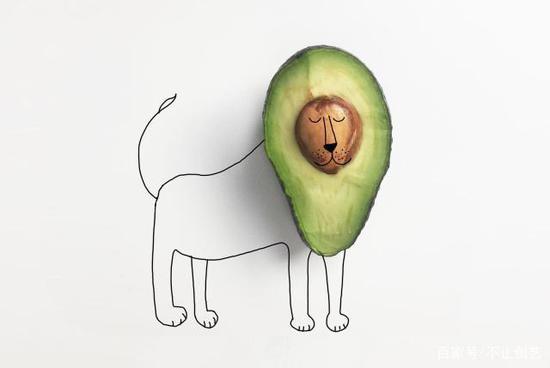切開這個牛油果時,它看起來有點困了,然后,它變成了一只打盹的獅子。