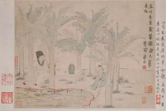 金農《玉川先生煎茶圖》