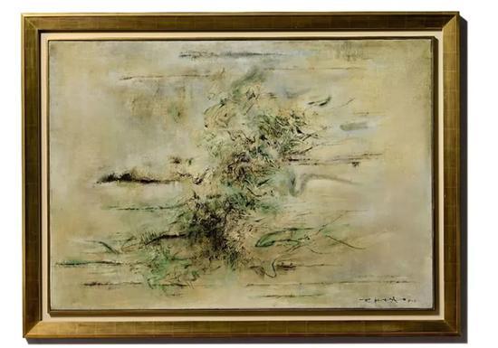 赵无极《无题》 成交价:115,966,000 港元 拍卖收益将拨归所罗门 · R · 古根汉美术馆艺术基金