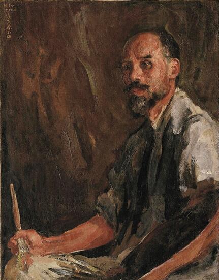李铁夫 画家冯钢百像 90.5×71.2cm 布面油彩