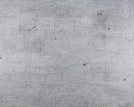 譚平 《灰色1號》 布面丙烯 160cm×200cm 2010