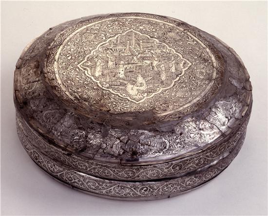 大英博物馆藏宋代银镜盒