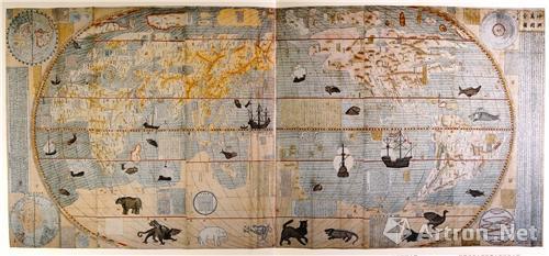亚洲书画网_坤舆万国全图:中国最早的彩绘世界地图_藏趣逸闻_新浪收藏_新浪网