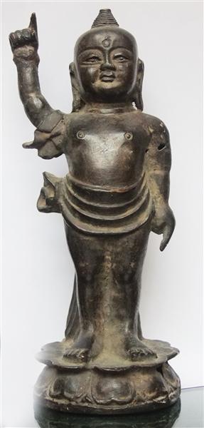 ▲明代釋迦牟尼誕生佛像