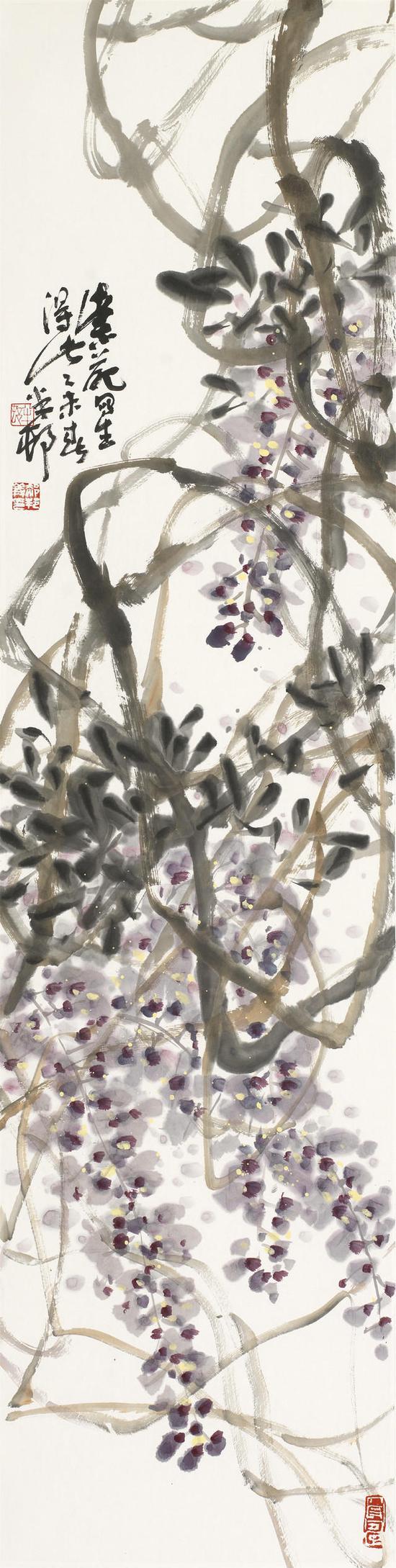 紫苑 136x34cm
