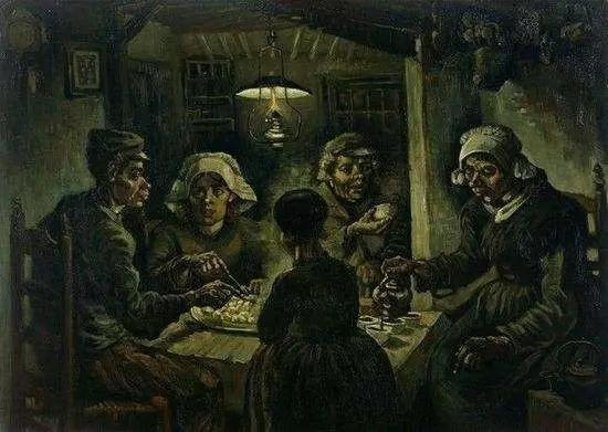 《吃土豆的人》 1885年 梵高博物馆