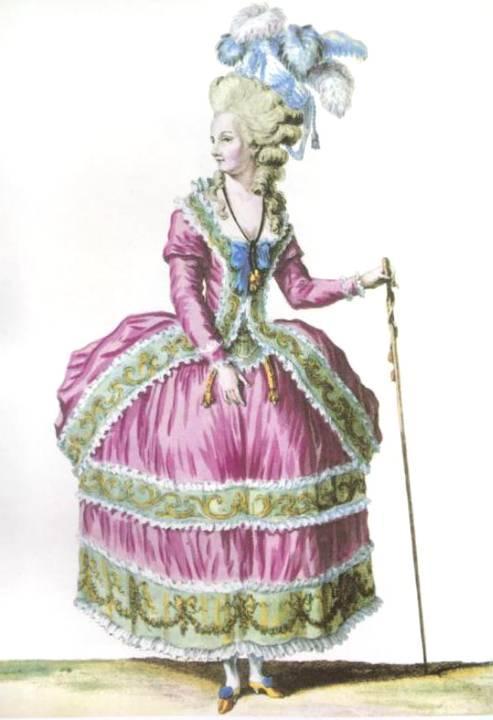 18世纪欧洲宫廷_17~20世纪欧洲时装版画:从流行服饰到独立装饰 时装 服饰 版画 ...