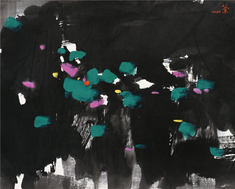 知音 2008年 吳冠中 48×60厘米 紙本水墨設色 中國美術館藏