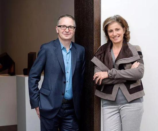 Brett Gorvy 和 Dominique Lévy(Lévy Gorvy画廊的合伙人)