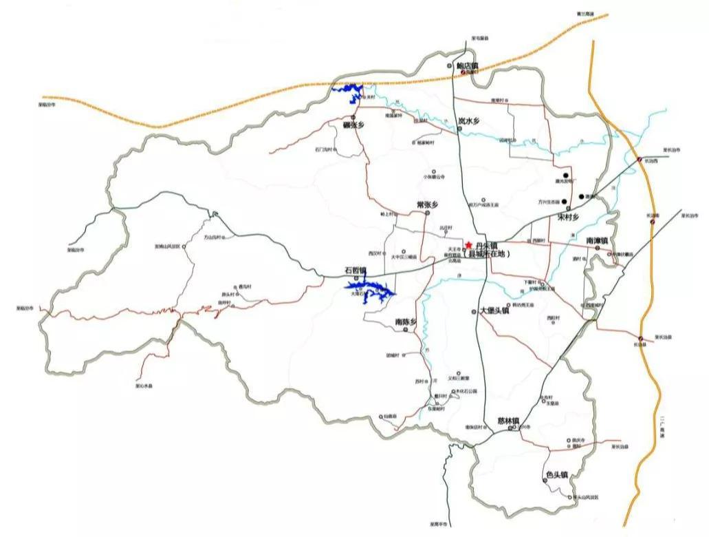 ▲鮑店鎮位于長子縣的最北端