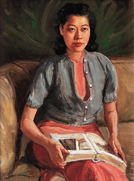 李铁夫 刘素微肖像 102×77cm 布面油彩