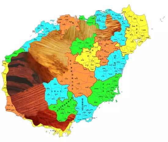 ■海南島 不同產地的海南黃花梨紋理不同