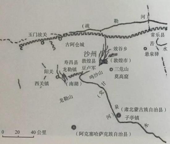 圖2 唐代沙洲地區地圖