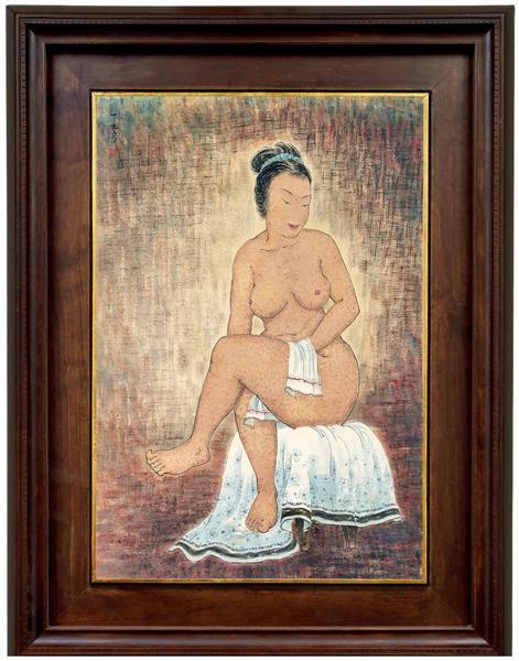 Lot 693   潘玉良   坐姿裸女   100 × 70 cm   成交价: HK$ 11,650,000