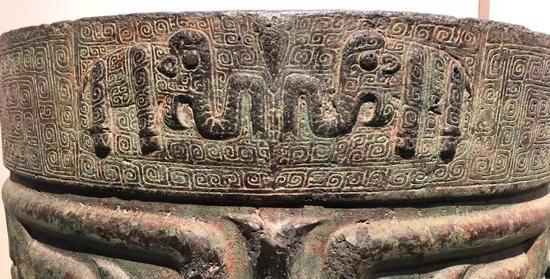 ▲ 象纹铜铙,国家博物馆藏,象纹