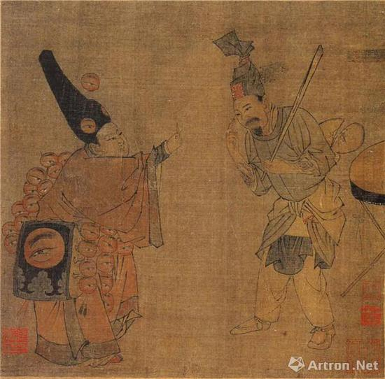 《卖眼药图》册 故宫博物院