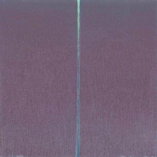 Pat Steir,《香港的蓝紫》(Blue Mauve for Hong Kong)