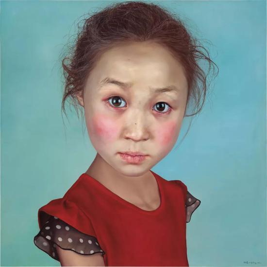 汪凌 《壞小孩No.3》 布面油畫 150cm×150cm 2012