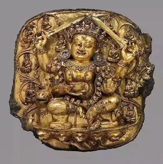 鎏金銅佛 大都會博物館藏