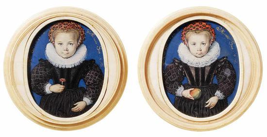艾薩克·奧利弗,《無名的五歲女孩》,1590年