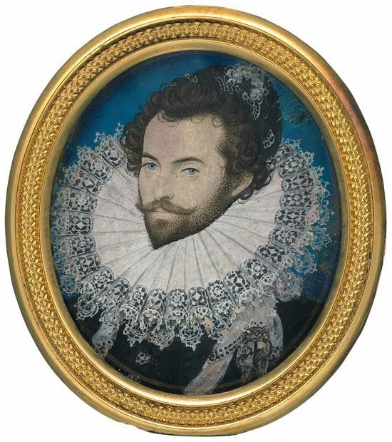 尼古拉斯·希威德,《沃爾特·雷利爵士》,1585年