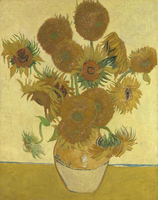 炽热…梵高《向日葵》(1888)。图片/伦敦国家美术馆