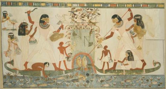 古埃及人捕鱼场景