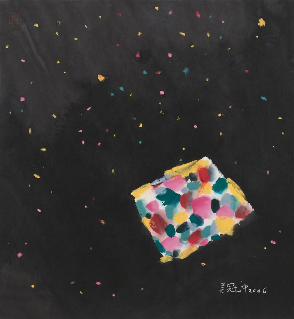 天外來客 2007年 吳冠中 49×45厘米 紙本水墨設色 中國美術館藏