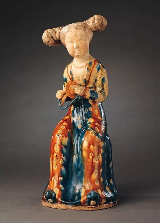 唐代彩釉宮女陶俑