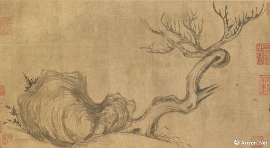 苏轼《木石图》画心部分