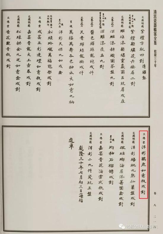 《清宫瓷器档案全集》