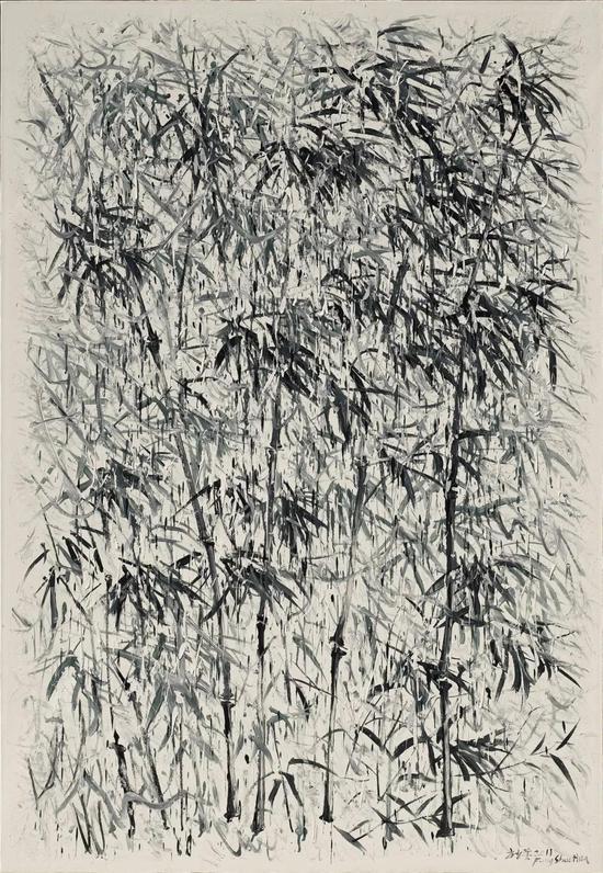 方少華 《無譜之竹——清風和》 布面油畫 160cm×110cm 2011