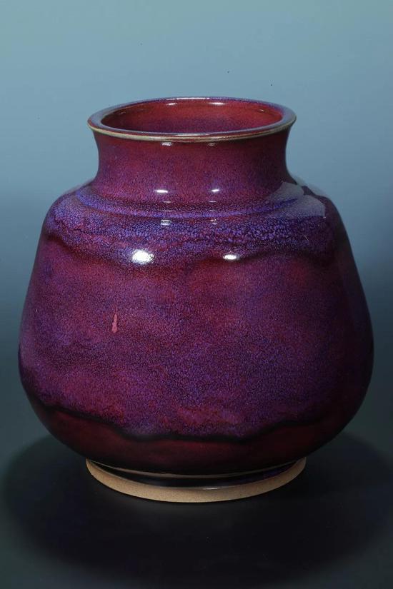 钧瓷将军尊葡萄紫釉