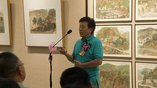 陜西畫院院范華在廣東畫院美術館展覽開幕現場致答謝詞