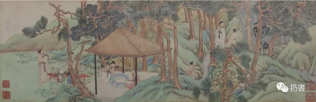文徵明《惠山茶会图》,故宫博物院