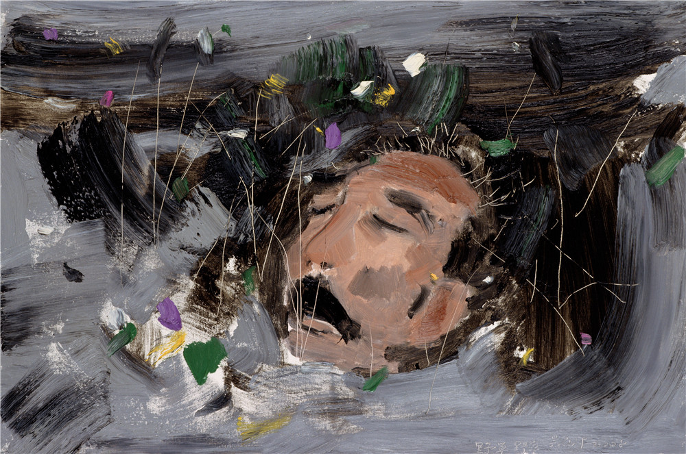 野草 2008年 吳冠中 61×91厘米 布面油彩 中國美術館藏