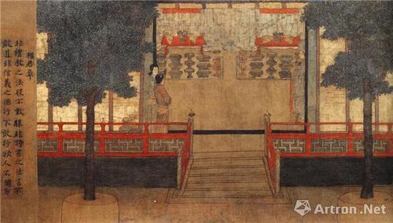 《女孝经图》卷局部 故宫博物院