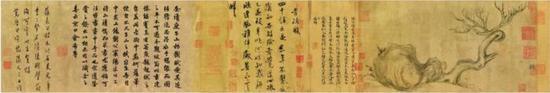 《枯木怪石图》 全卷27.2 x 543cm