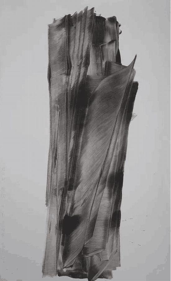 對一種植物的第一次抽象 老赫 硬質紙水墨 270 × 160 cm 2019