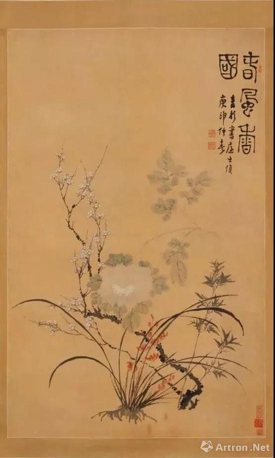 汪士慎《春风香国图》轴