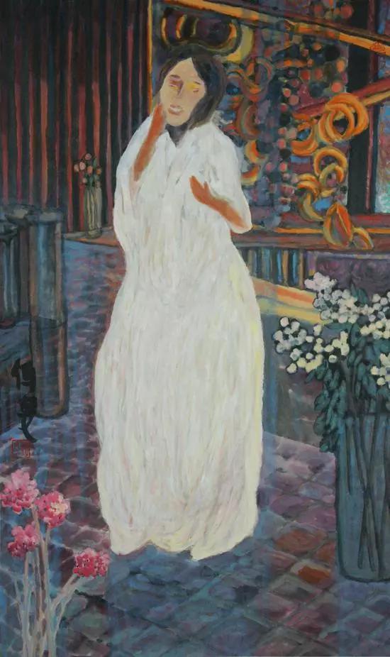 杨佴旻 《春色》 96.5x60cm 纸本设色 2016年
