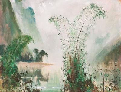 蘇天賜《漓江春色》,油彩,1994